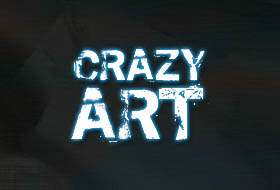 crazy art logo