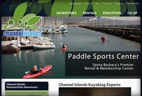 paddle sports website portfolio example