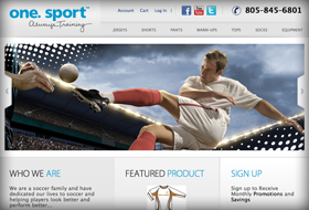 one sport website portfolio example