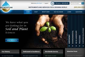 soil moisture website portfolio