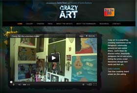 crazy art website portfolio