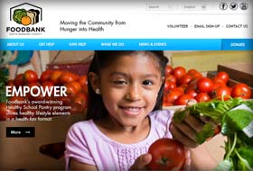 foodbank website portfolio