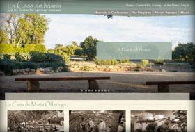 la casa de maria website portfolio