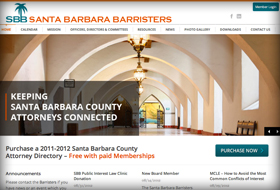 santa barbara barristers website portfolio