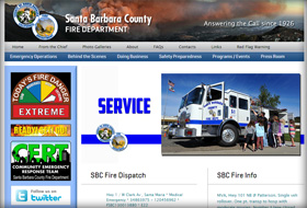 santa barbara county website portfolio