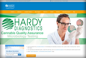 hardy diagnostics website portfolio