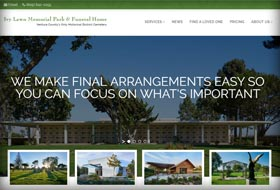 funeral home website portfolio